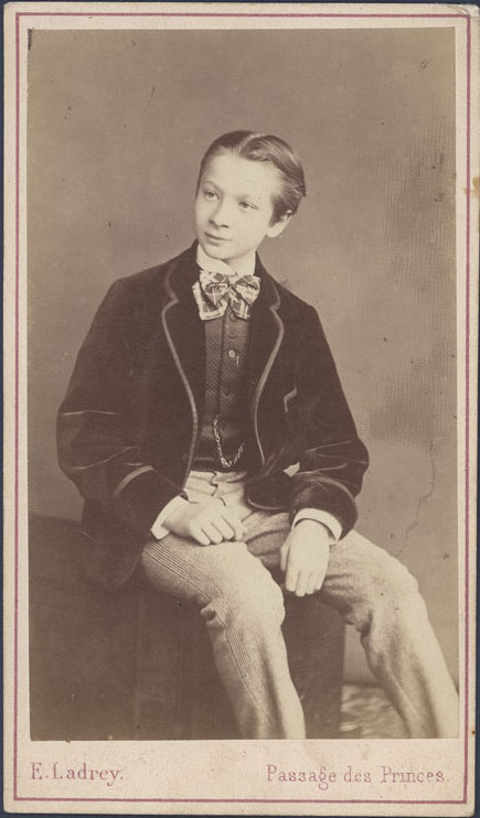 Niezidentyfikowany młodzieniec, Paryż, 1860/1870, fotografia zabytkowa