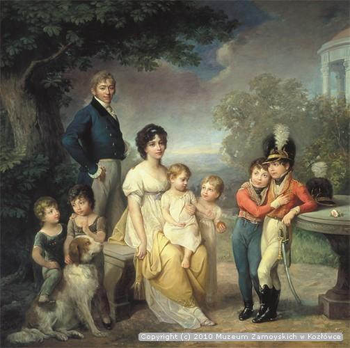 Zofia z Czartoryskich i Stanisław Kostka Zamoyski z dziećmi