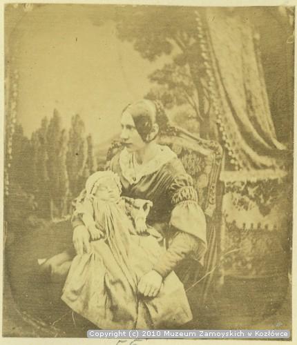 Anna z Mycielskich Zamoyska z synem